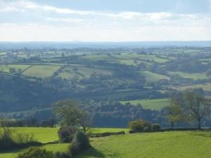 Wrekin distantly seen from Alport Height (top centre)