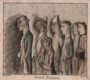 D5459/1/5 French Prisoners, George M. Woodward, 1783