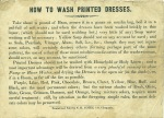 D307/G/1 How To Wash Printed Dresses, [early 19th cent]