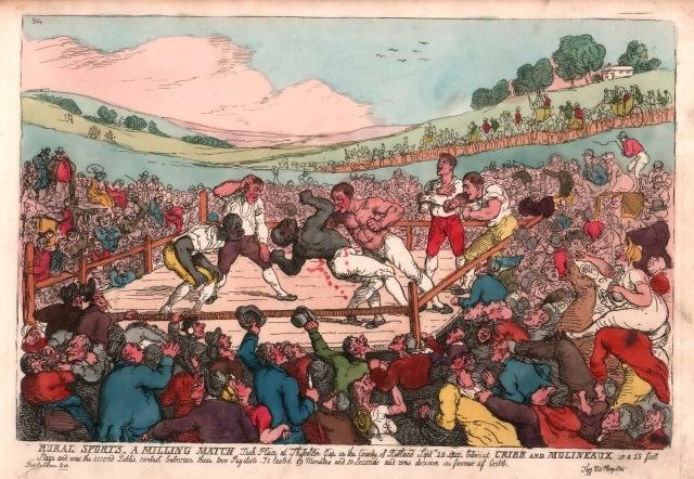 D5459/4/32/2 A Milling Match, Thomas Rowlandson, [1811]