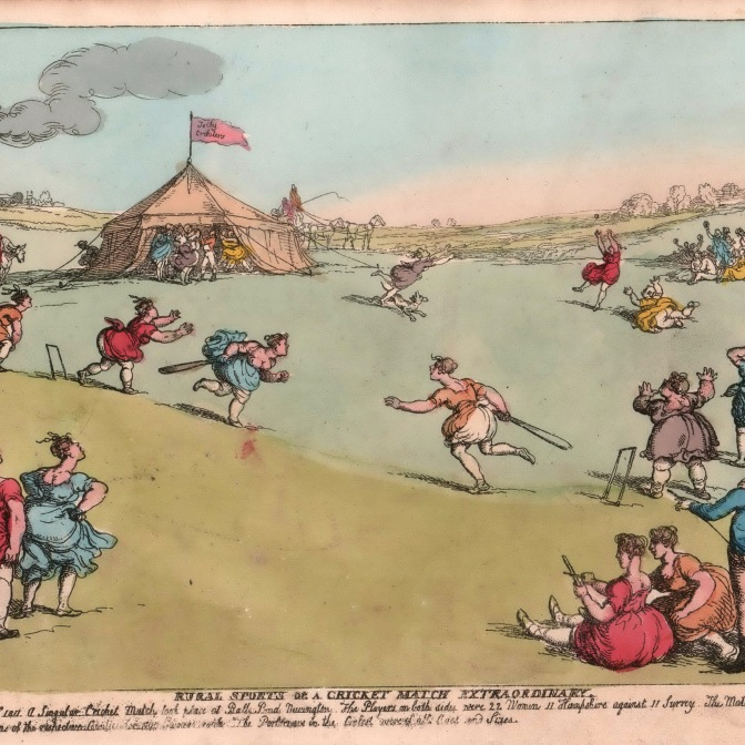 D5459/4/32/5 A Cricket Match Extraordinary, Thomas Rowlandson, [1811]