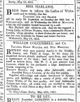 Advertisements, Derby Mercury, 23 May 1811