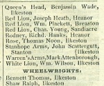 Excerpt from Pigot's Directory, 1821-1822