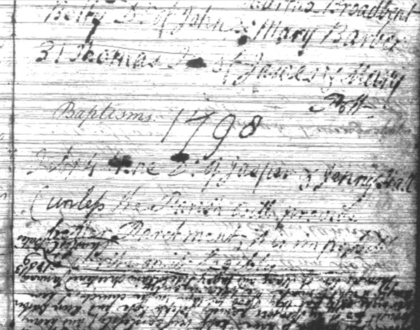 Castleton parish register