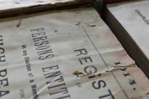 damaged pages of register