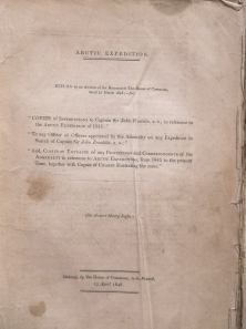 D3311/219 Copies of Instructions to Captain Sir John Franklin in reference to the Arctic Expedition of 1845, 1848