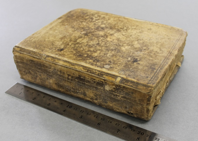 The account book in its original binding