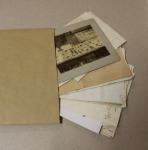 Envelope with 19th century contents
