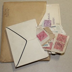 Envelope with stamps