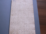 Re-catalogued from Sheffield Archives: Letter from Cuthbert Cooper of Dronfield, seaman, 1827 (Ref: D7831/1)