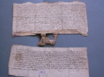 Re-catalogued from Sheffield Archives: Deed and will relating to Chesterfield (DRO Ref: D7823)