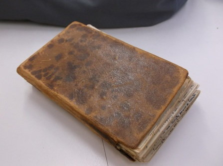 The notebook by Sir Richard Arkwright's Grandson