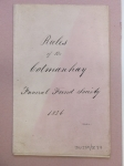D1023-37 Laws and regulations of the Cotmanhay Wesleyan Sunday School Funeral Fund Society, 1849