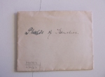 D2375-M-270-27 Envelope containing five negatives re WW1 trenches, including two photographs of soldiers, 1918