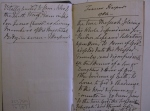 D2375-M-76-187  Pages from Frances Harpur's commonplace book, 1784