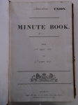 D523-CW-1-1 Title page of Shardlow Board of Guardians' first minute book, 1837