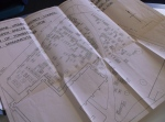 D5720-1-1 Plan of Ashbourne St Oswald graves, 1959, with faculty for removal of tombstones