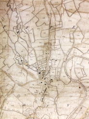 D1564/1b Enlargement showing the village centre of Duffield Enclosure Map, 1787