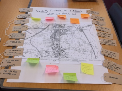 Some of the key information we learnt about buildings in Ilkeston from the sources