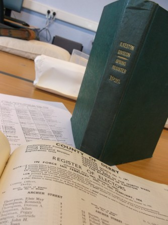 Electoral registers for Ilkeston division 1926 and 1955 (ER/Ilk/1926/Spring; ER/Ilk/1955)