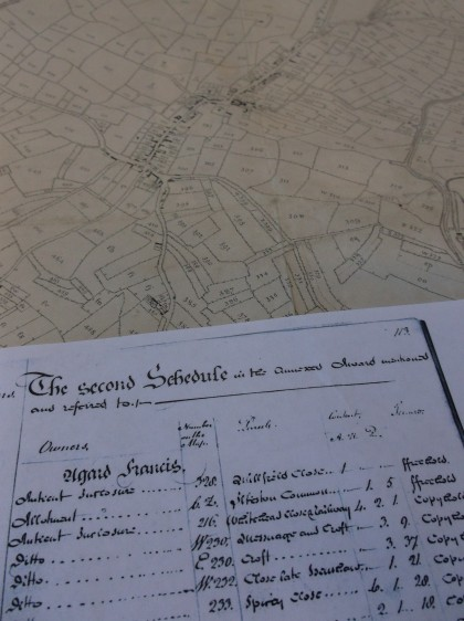 Extracts of Ilkeston Enclosure Map and Award 1798 (Q/RI/58; Q/RI/3 pp 1-147)