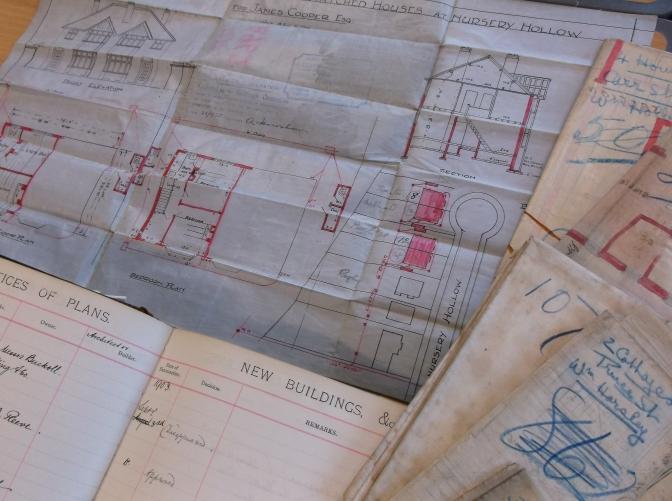 Building plan register (D5624/1) and selected building plans (D5624/2/100-111)