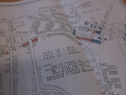 Plan of properties in Ilkeston damaged during air raids 30 Aug - 5 Sep 1942 and scheduled for permanent repair (D5613/1/8)