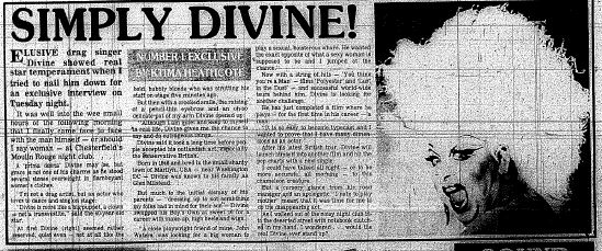 Divine Derbyshire Times May 1986