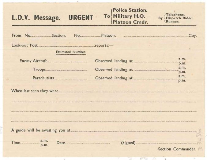 Home Guard form