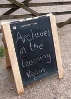 Archives in the Learning Room, at Calke Abbey