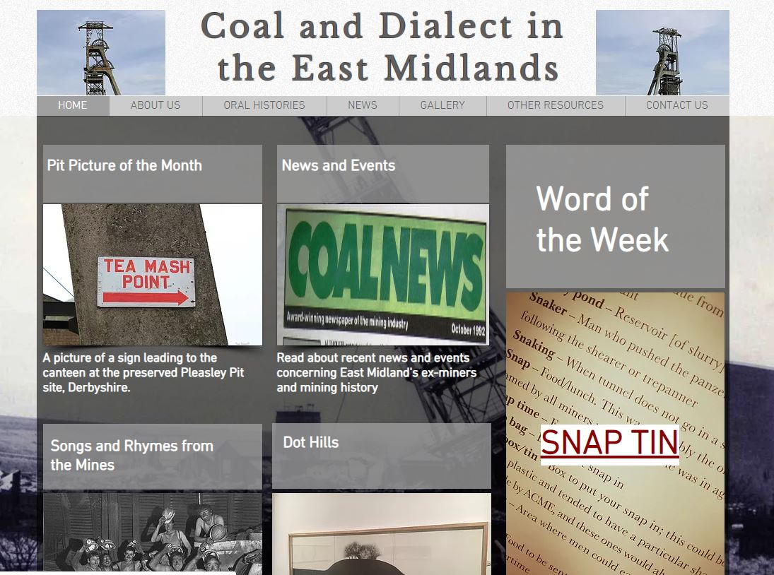 Coal and Dialect website