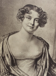 Jane Griffin, later to be Lady Jane Franklin, drawn by Amelie Romilly while on holiday in Geneva in 1816