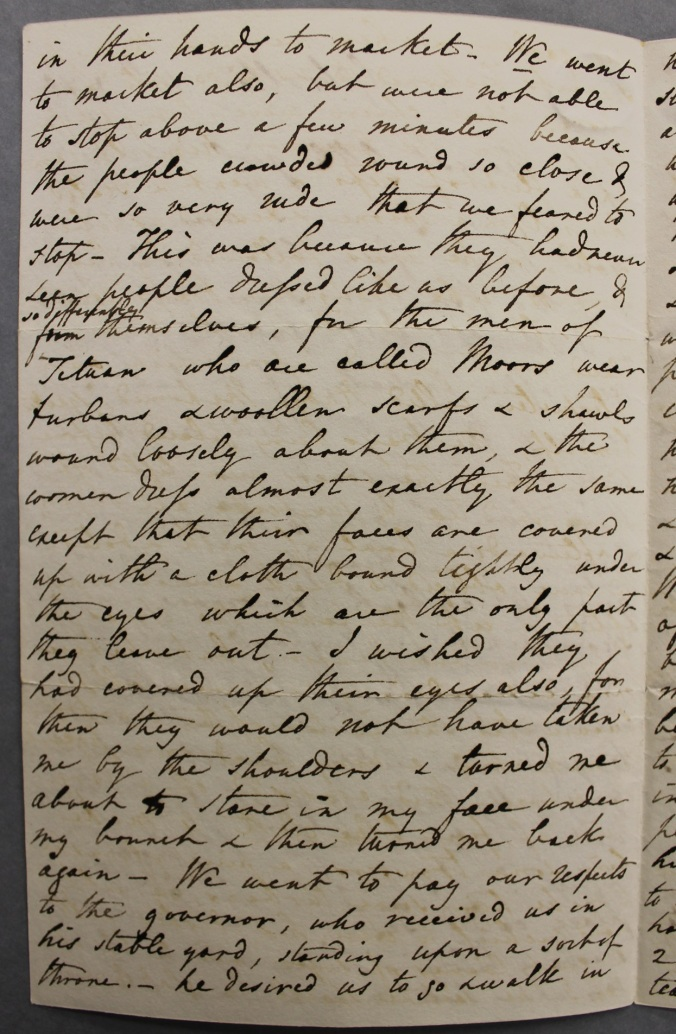 Letter on Jane Franklin's African trip
