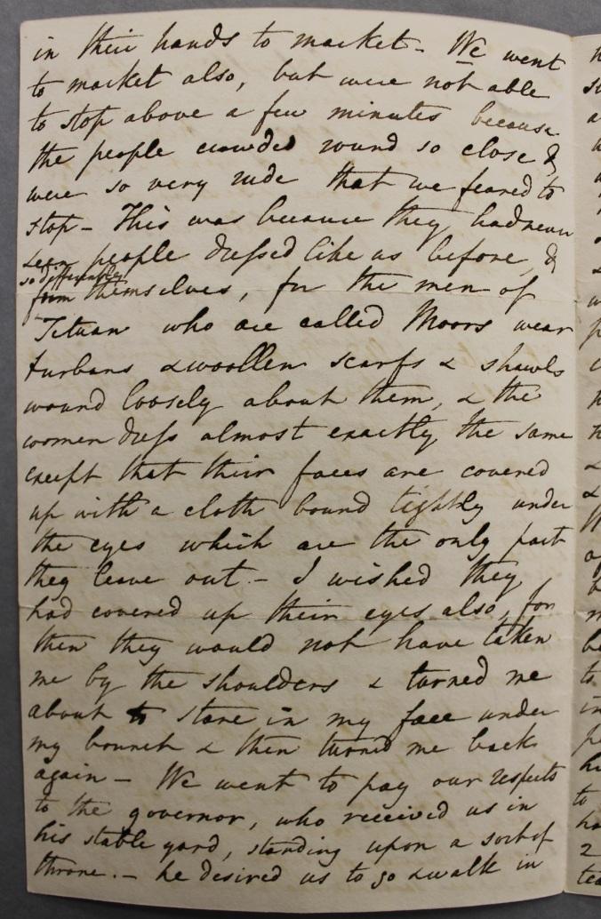 Letter on Jane Franklin's African trip