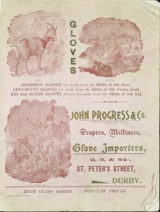 Illustrated catalogue, John Progress and Co., drapers, milliners and glove importers, St Peter's Street, Derby, c1900 (ref: D5202/13/2)