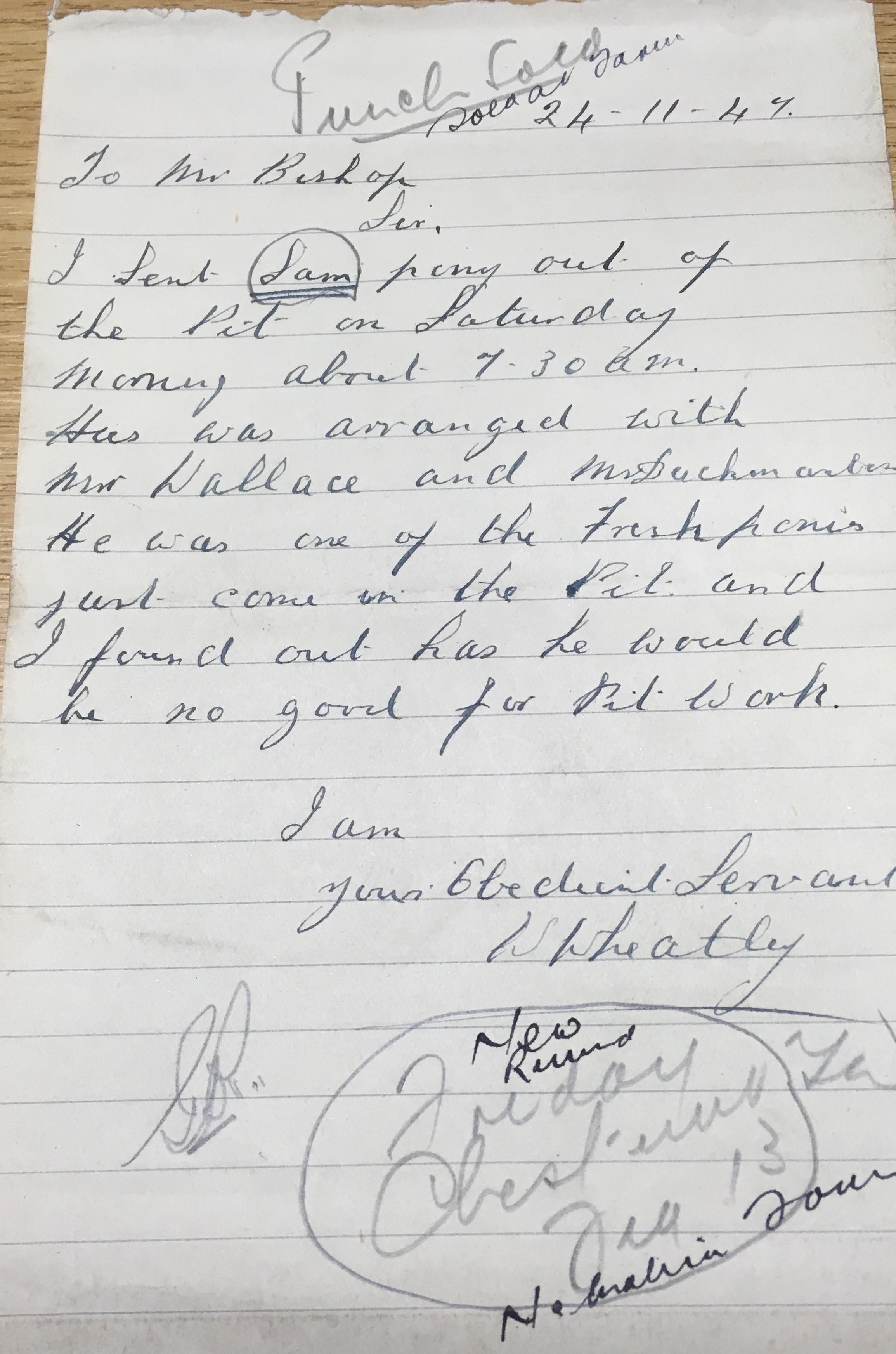 Letter of bad Sam