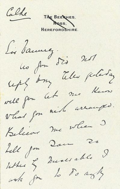 1890s letter