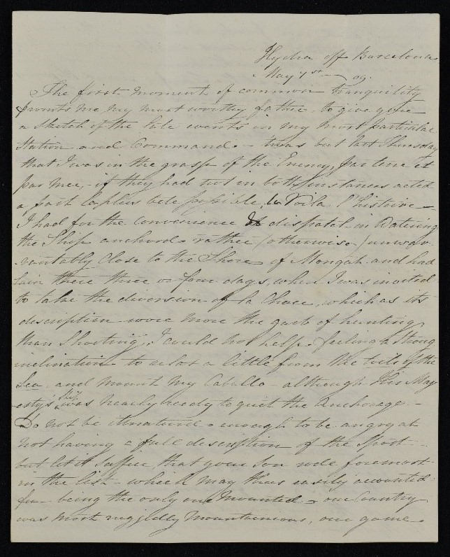 Captain Mundy's letter