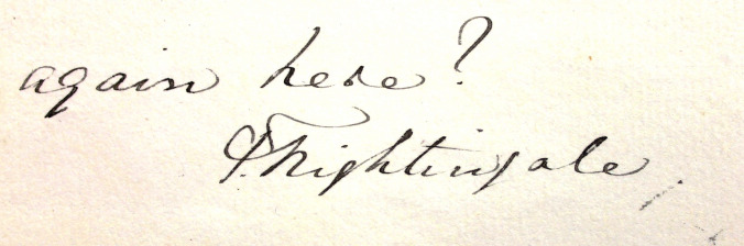 florence nightingale signature